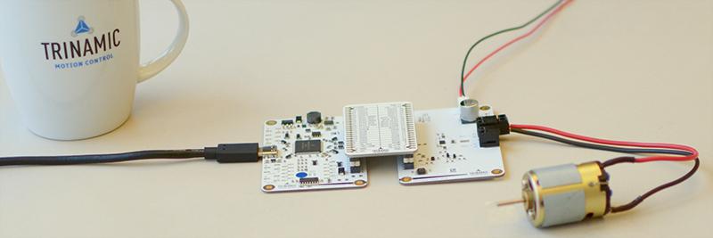 Setup with the TMC7300-EVAL-KIT and DC motor